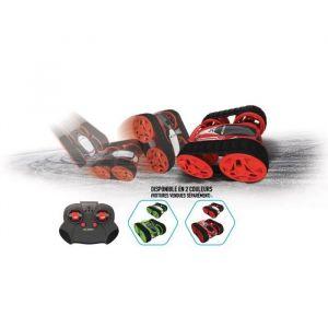 Silverlit Mini Flip Tank Voiture Télécommandée - 20261 - Échelle 1:34 - assortiment 2 couleurs rouge ou vert