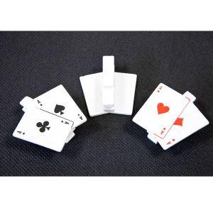 6 pinces à linge jeux de cartes Casino