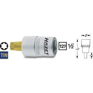 """Hazet Douille mâle TORX, T60, 4 pans intérieurs 12,5 mm (1/2""""""""), TORX intérieur 992-T60"""
