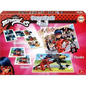 Educa Superpack Miraculous Ladybug : puzzle, domino et identic