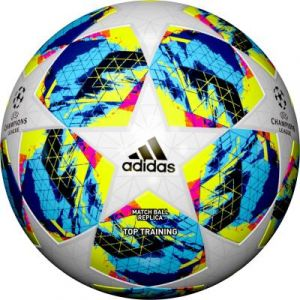 Adidas Ballon de football Finale UEFA Champions League 19 Top Training Ball Blanc/Bleu