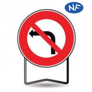 Taliaplast 524403 - Panneau signalisation prescription b2a interdit à gauche t1 650mm