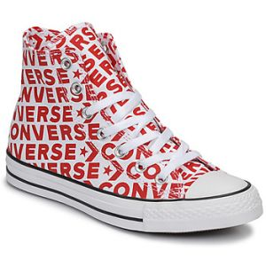 Converse Chaussures casual unisexes Chuck Taylor All Star montantes en toile Wordmark 2.0 Rouge / Blanc - Taille 42
