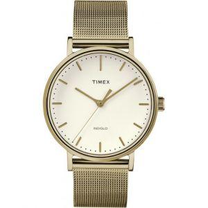 Timex : Montre TW2R26500D7 - Montre The Fairfield Maille Milanaise Dorée Femme