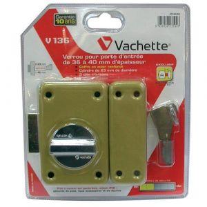 Vachette Verrou à bouton V136 - 45 mm - 3 clés