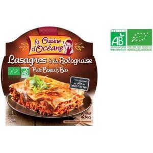 La Cuisine d'Océane Lasagnes à la bolognaise pur boeuf, bio - L'assiette de 300g
