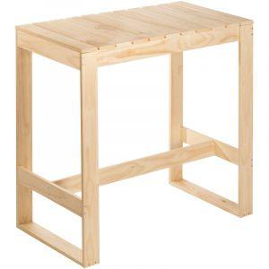 Astigarraga Table pin massif - 104.5x56.5x105 cm - bois brut poncé - Table, Meuble de jardin