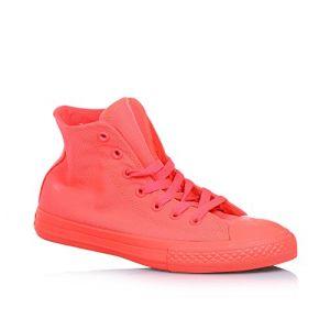Converse Sneaker à lacets rouge cramoisi phosphorescent en tissu, pièce en caoutchouc à l'avant, garçon ou fille-30