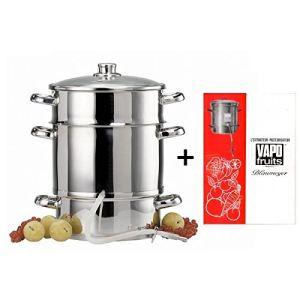 Baumalu Extracteur de jus avec livre de recette en inox (28 cm)