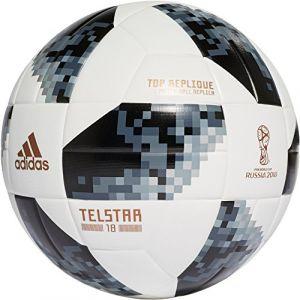 Adidas Uni World Cup Top Replique Football, White/Black/Silver Métallisé, 5