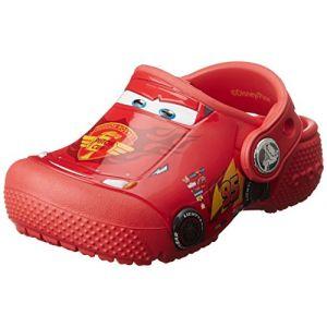 Crocs Fun Lab Cars Clog Kids, Garçon Sabots, Rouge (Flame), 34-35 EU