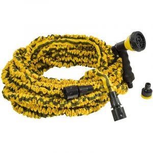 Rain Tuyau extensible jaune 30 m + pistolet