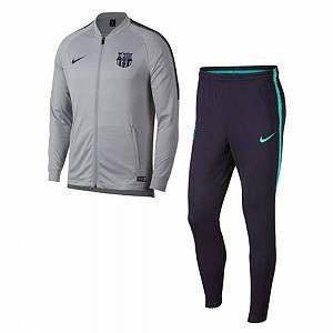 Nike Survêtement de football FC Barcelona Dri-FIT Squad pour Homme - Gris - Taille S
