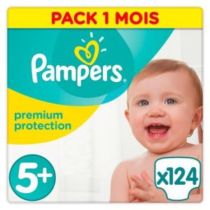 Pampers Premium Protection taille 5+ (13-25 kg) - 124 couches