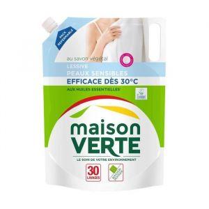 Maison Verte Lessive peaux sensibles recharge 30 lavages - 1,8L