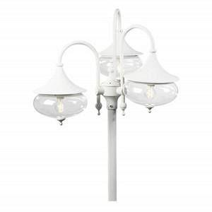 Konstsmide Lampadaire extérieur Libra Blanc, 3 lumières Classique Extérieur Libra