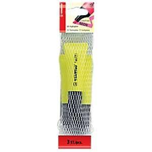 Stabilo Surligneur jaune de technologie tampon - Lot de 3