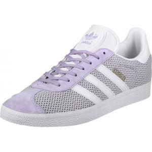 Adidas Gazelle, Baskets Basses Femme, Violet (Easy Purple/Footwear White/Easy Purple), 42 2/3 EU