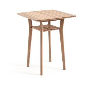 Table de bar haute de jardin acacia, GAYTARA . Beige