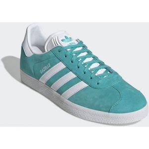 Adidas Gazelle, Sneakers Basses Homme, Bleu (Hi-Reset Aqua/Footwear White/Footwear White 0), 45 1/3 EU