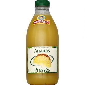 Andros Ananas, jus de fruits frais pasteurisé - La bouteille de 1L