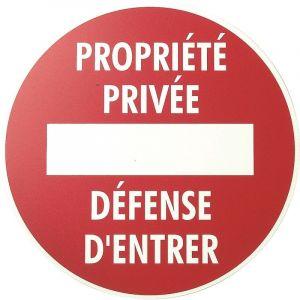 Vinmer 381007 Panneau de signalisation Propriété privée défense d'entrer ø 290 mm (MATOUTILS neuf)