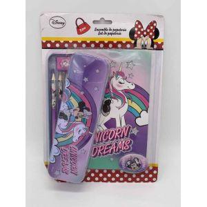 Set de papeterie 9 pcs Minnie Mouse Unicorn