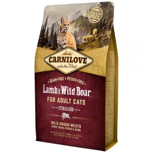 Carnilove Adult Sterilised Lamb & Wild Boar - Sac 6 kg