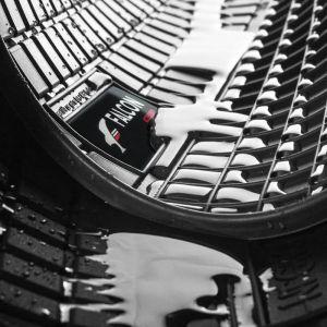 DBS Tapis Sur Mesure en Caoutchouc pour BMW Série 5 de 2003 a 2010 - Jeu de 4 tapis sur mesure en caoutchouc - Bords en 3D - Compatible avec fixation d'origine - Poids : 5,5 kg