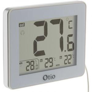 Otio Thermomètre intérieur / Extérieur filaire Blanc -