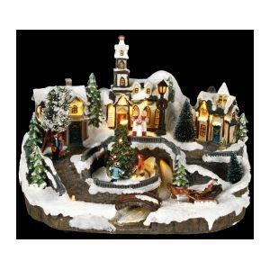 Village de Noël lumineux Avoriaz