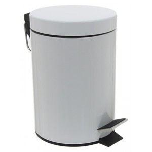 Poubelle à pédale pour salle de bain en métal (3 L)