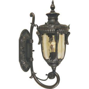 Elstead Applique montante extérieure Philadelphia petite en bronze et verre