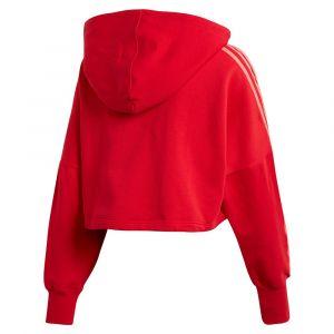 Adidas Cropped sweat à capuche Femmes rouge T. 32