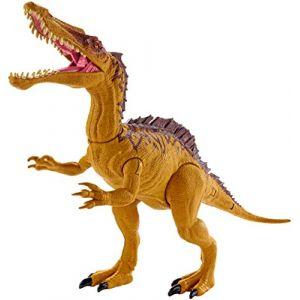 Mattel JURASSIC WORLD - Large Dino Rivals Suchominus - Figurine Dinosaure 21.3 CM avec 2 mouvements d'attaque
