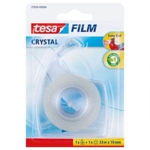 Tesa Adhésif FILM® Crystal 33m + 1 Dérouleur EASY CUT