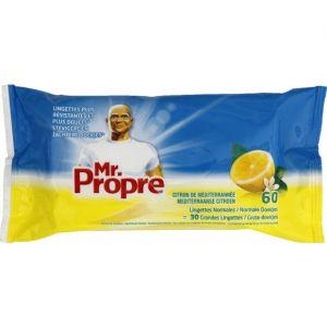 Mr. Propre 60 lingettes nettoyantes multi-usages Citron