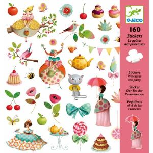 Djeco 160 stickers Le goûter des princesses