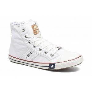 Mustang 1099 502 1, Sneakers Hautes Femme, Blanc (1 Weiss), 41 EU