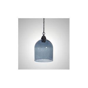 Crisbase Rustic - Suspension en verre soufflé forme cloche Ø21 cm H23 cm