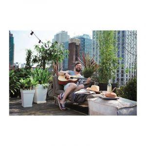 Loft URBAN Soucoupe carrée pour pot de fleur - 28 x 28 cm - Blanc - Contre les tâches d'humidité sur la table ou les dalles de la terrasse