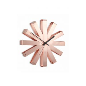 Umbra Horloge étoile cuivrée Ribbon