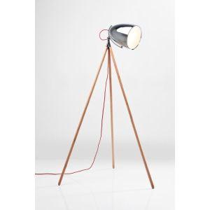 Kare Design Lampadaire Trépied Spot en bois 215 cm