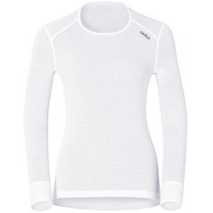 Odlo Originals Warm T-Shirt chaud col rond manches longues femme Blanc Taille Fabricant : XS