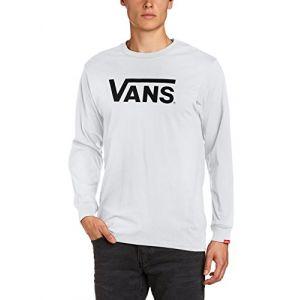 Vans T-shirt Manches Longues Classic (black-white) Homme Blanc, Taille L