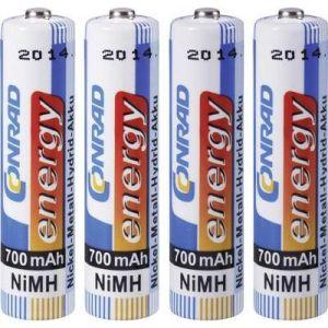 Accu LR03 (AAA) NiMH 1.2 V Conrad energy 250400 700 mAh x4