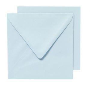 Panduro Enveloppes Cartes Bleu clair - Carrées pré-pliées - Poids 240 g - 155x155 cm - Carrées pré-pliées - Poids 240 g - 155x155 cm - Paquet de 10 enveloppes et 10 cartes