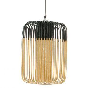 Forestier BAMBOO - Suspension d'extérieur Bambou/Noir H50cm - Luminaire d'extérieur designé par Arik Levy