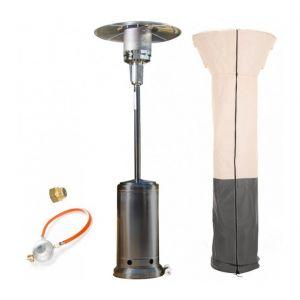 Empasa Parasol Chauffant au Gaz CLASSIC LIGHT - Inclus détendeur Gris Housse beige / anthracite