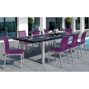Vlaemynck equinox table de jardin rectangulaire - Table de jardin ovale extensible fort de france ...